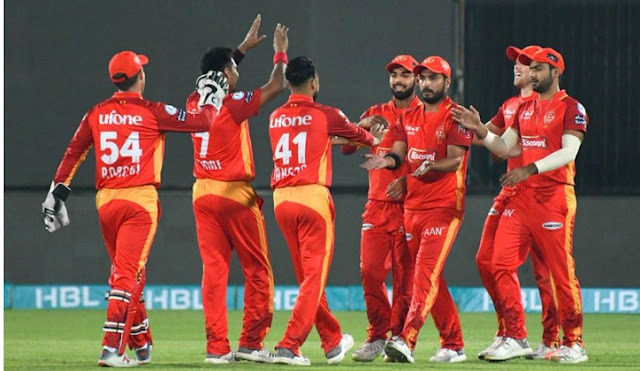 PSL 2019 Islamabad United Beat Lahore Qalandar by 49 runs, reached the United Play-off stage