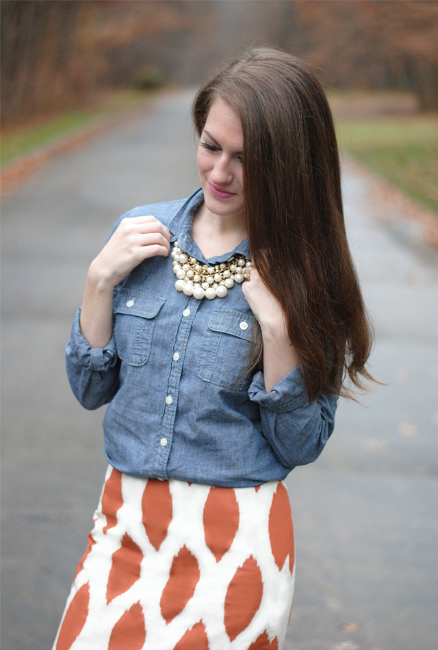 bb6fed80b7c Chambray and a Pencil Skirt – Southern Curls & Pearls