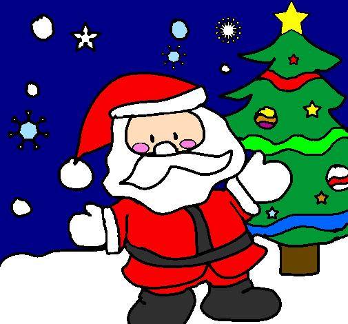 Desenho Papai Noel Colorido Para Imprimir