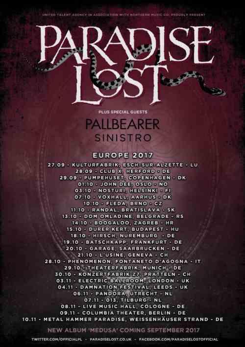 PARADISE LOST: Ανακοίνωσαν Ευρωπαϊκή περιοδεία