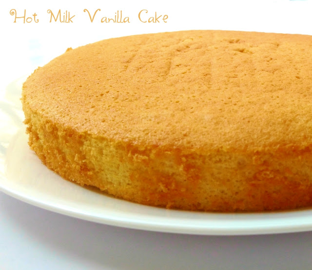 how-to-make-hot-milk-vanilla-sponge-cake