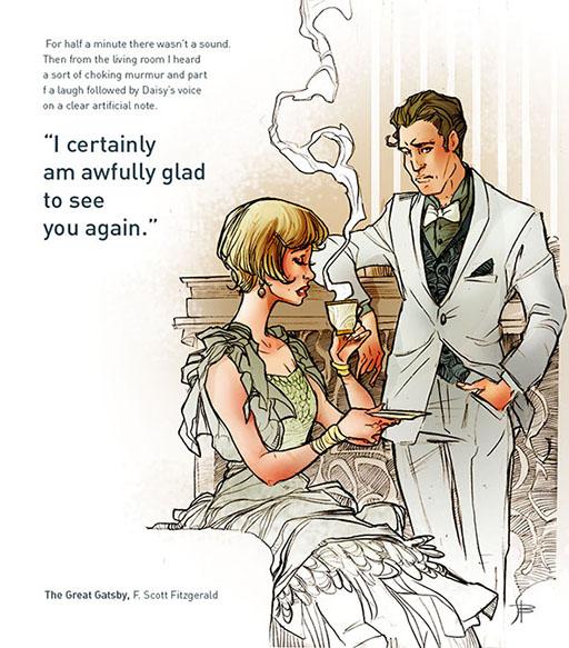 """Il Tempo Ritrovato Il Grande Gatsby Un Meraviglioso: """"Se Dovessi Illustrare Il Grande Gatsby...."""""""