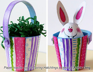 Annie Lang's FREE project instructions and patterns to make paper mache painted egg characters