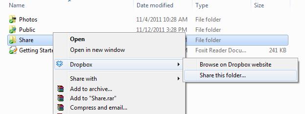 Cách tạo thư mục shared folder trên dropbox để làm việc theo nhóm