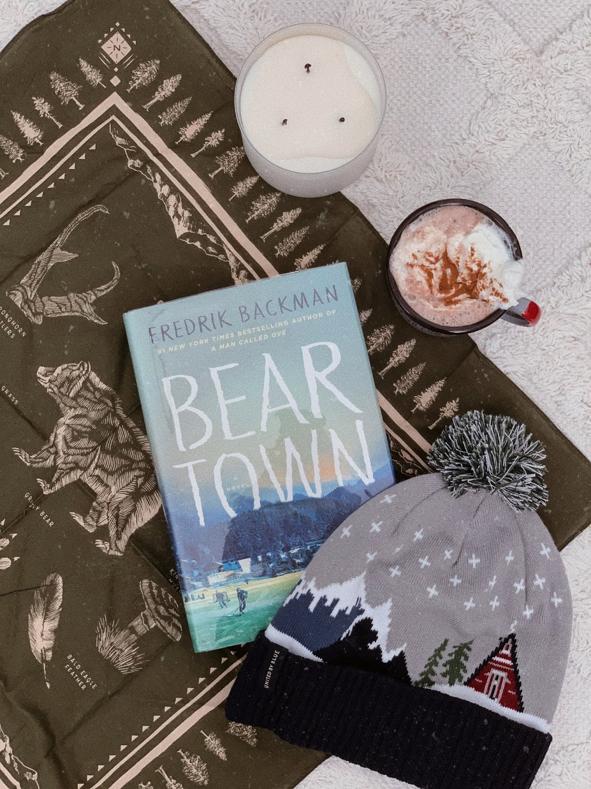 flatlay of beartown by fredrik backman - book review | book book bitch