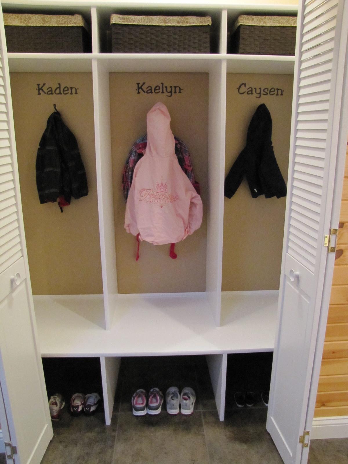 Diy Kids Lockers Cubbies For Coats School Bags Etc