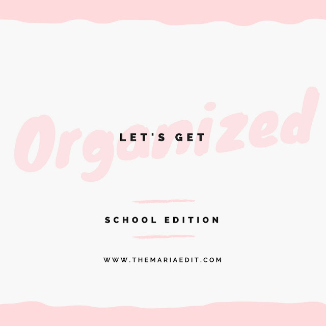 staying organized in school