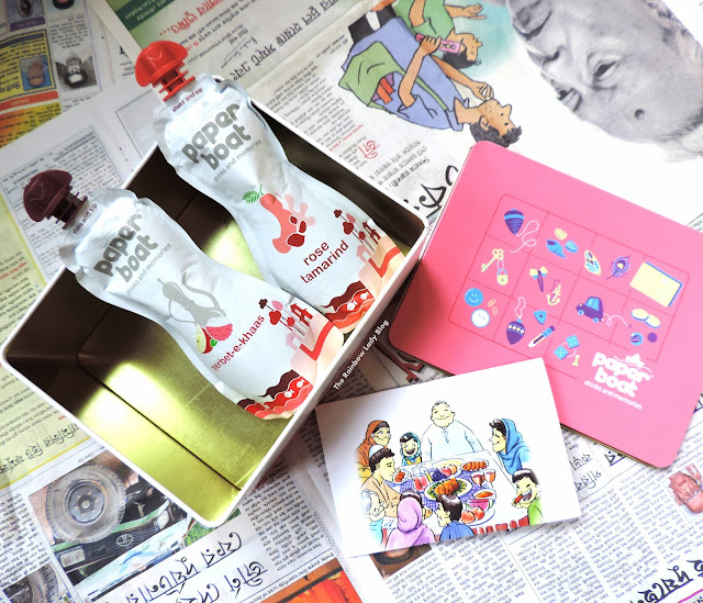 A box of memories from Paperboat with Sherbet - E - Khas and Rose Tamarind