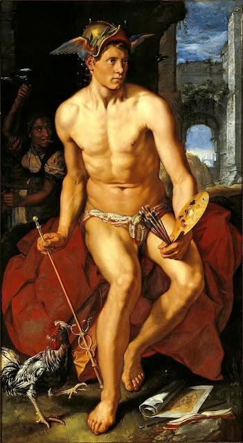 Hendrick Goltzius - Mercurio - nudo pittorico maschile