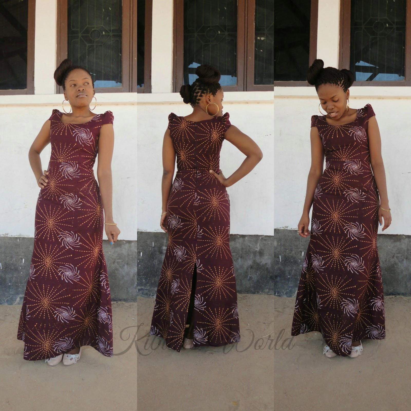 Kibua Designs: LONG BATIK DRESS