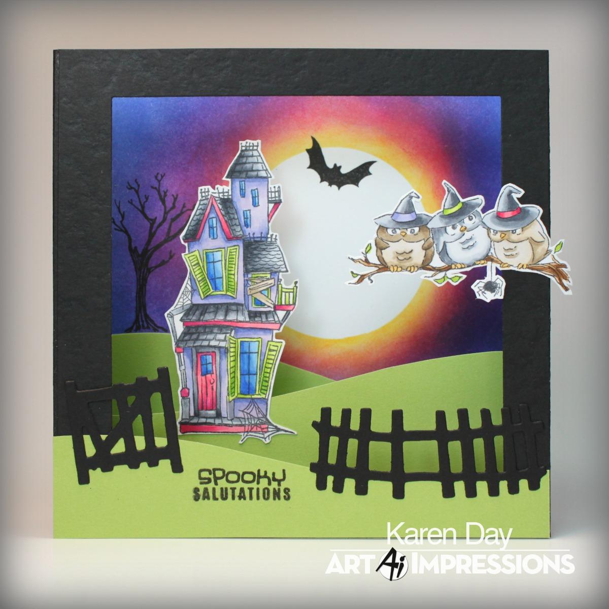karen's creations: halloween shadow box