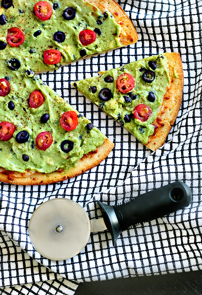Guacamole and Black Bean Pizza (via Bubby and Bean)