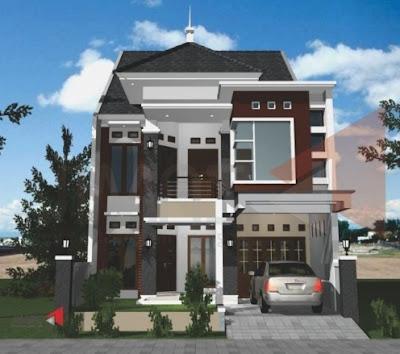Gambar Rumah Minimalis 2 Lantai type 45 Terlengkap
