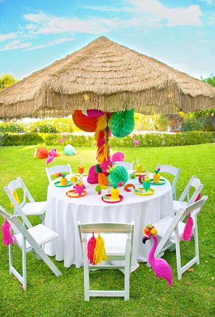 festa tropical para crianças