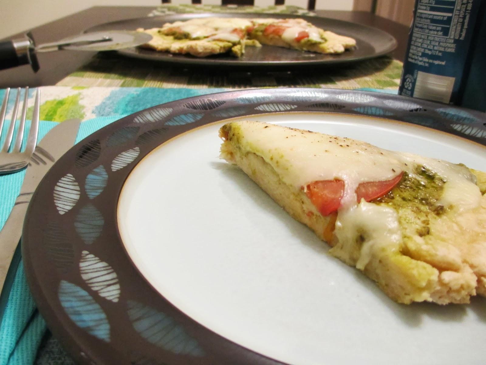 Gluten Free Mozzarella Pesto Pizza - #SundaySupper with Sara Moulton ...