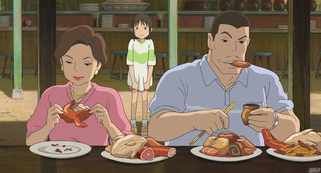 Película El Viaje de Chihiro de Studio Ghibli, dirigida por Hayao Miyazaki en el año 2001
