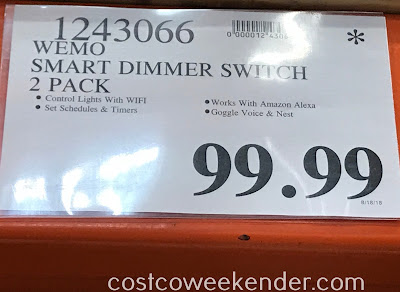 Deal for a 2 pack of Wemo Wi-Fi Smart Dimmer Switches at Costco