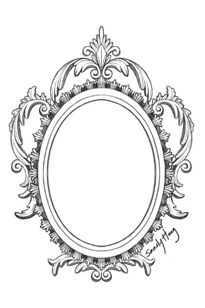 FANTÁSTICO MUNDO DA PRI : Desenho Moldura - Tatuagem Moldura