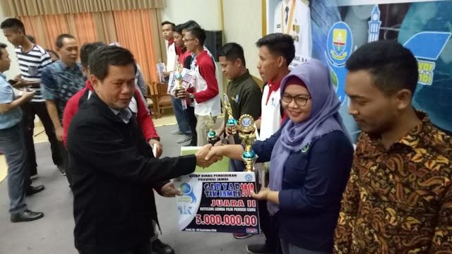 Tebo Dinobatkan Juara II Film Pendek Guru Se-Jambi