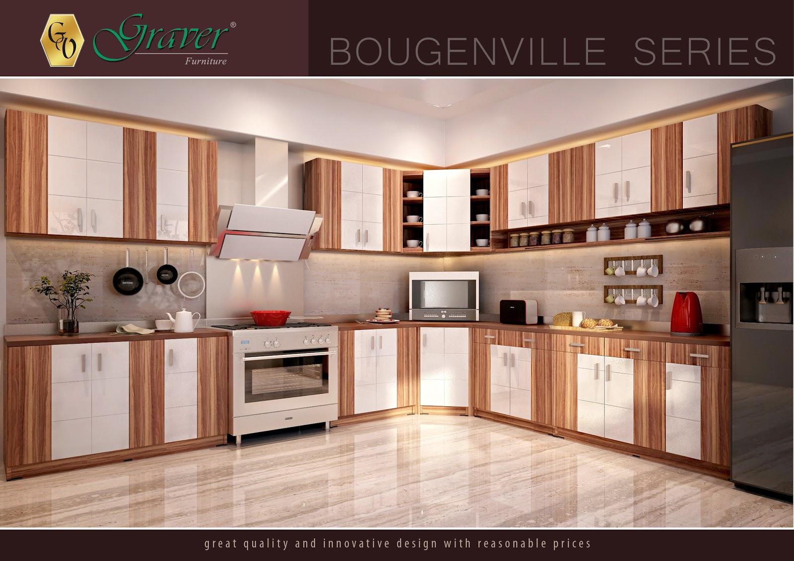 Furniture Rumah Online Kitchen Set Minimalis Bougenville
