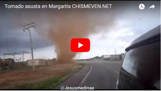 Sorpresivo tornado asusta a la gente en Margarita