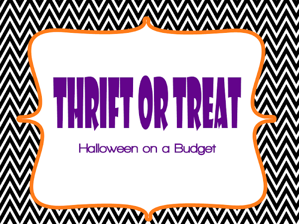 Thrift or Treat {Halloween On a Budget}