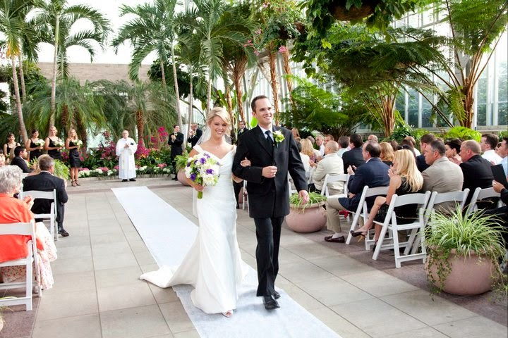 Chairs Face The Front Doors Of Jewel Box Due To Entrance Wedding Party A Ceremony Coordinator Makes Sure All Guests Are Present With Sign