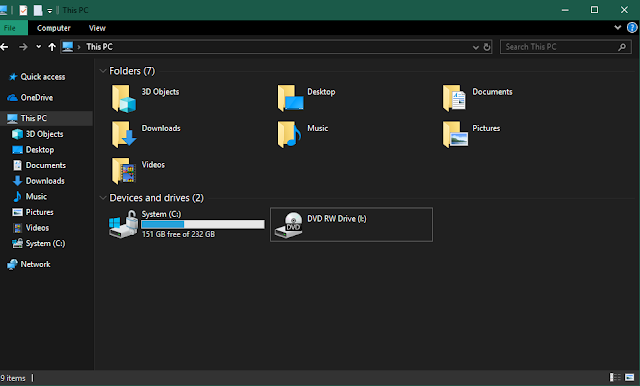 Cara Mengaktifkan Dark Mode File Explorer Pada Windows 10