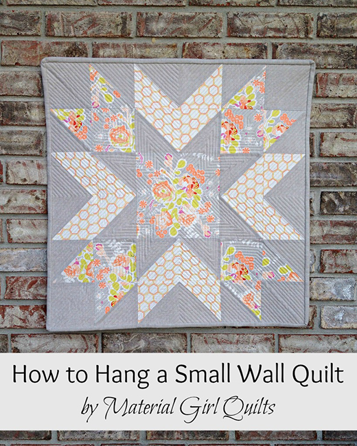 How to Hang a Small Wall or Mini Quilt
