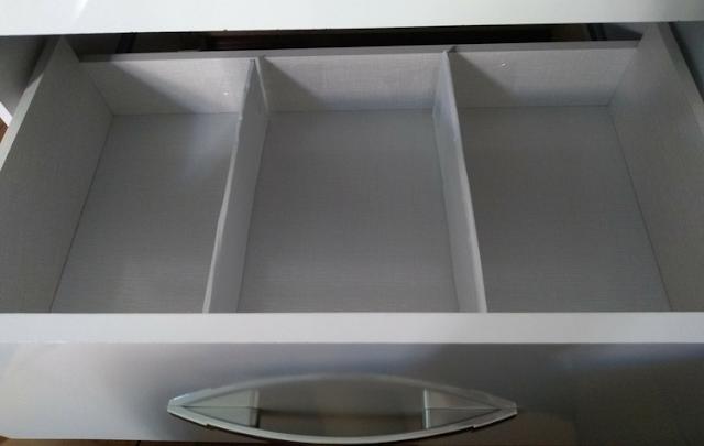 divisórias de gaveta de papelão e papel contact - Tamaravilhosamente
