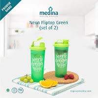 Dusdusan Neon Fliptop Green Set (Set of 2) ANDHIMIND