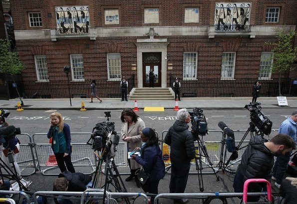 The Duchess of Cambridge, gave birth to a baby boy on Monday morning at the Lindo Wing of St. Mary's hospital. Queen Elizabeth II, Prince Philip