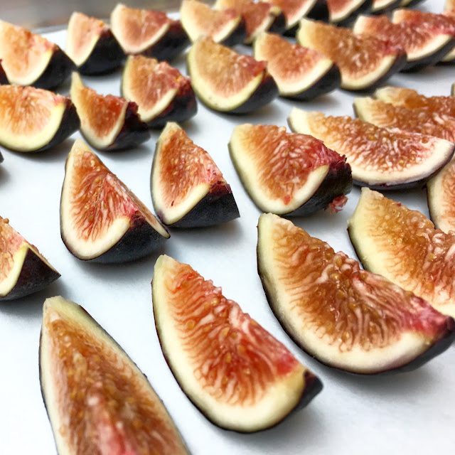 Sliced Black Mission Figs Close-Up