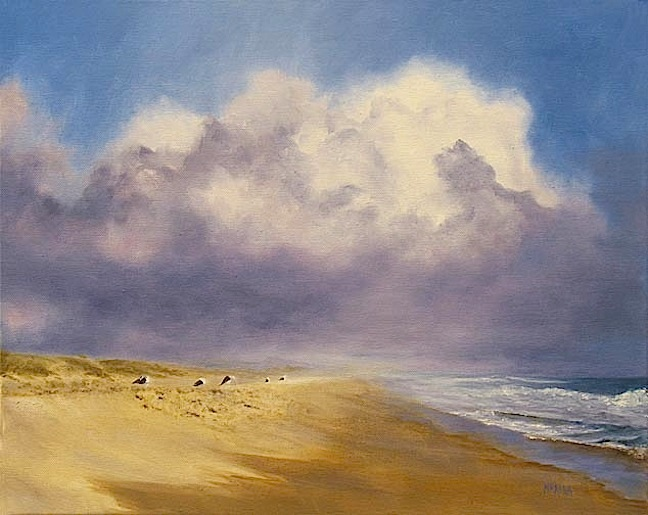 Beach And Ocean Storm: Adventures In Daily Painting: Storm Over