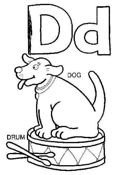 d letter coloring pages - photo #34