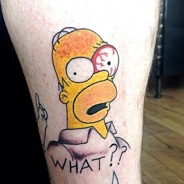 Tatuagens do Homer Simpson