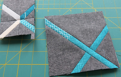 Work in progress - Crosscut tutorial by Debbie at A Quilter's Table