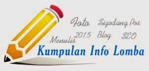 Kumpulan Info Lomba Menulis, Foto dan Blog 2016
