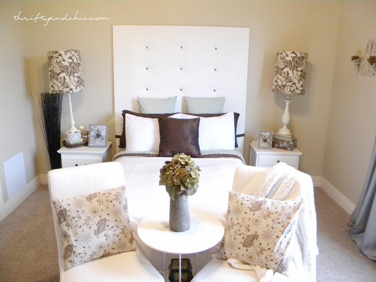 Thrifty and Chic house tour; farmhouse style living room ...  Thrifty Bedroom Ideas