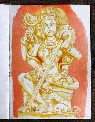 Saraswati-Inktober2018-HuesnShades