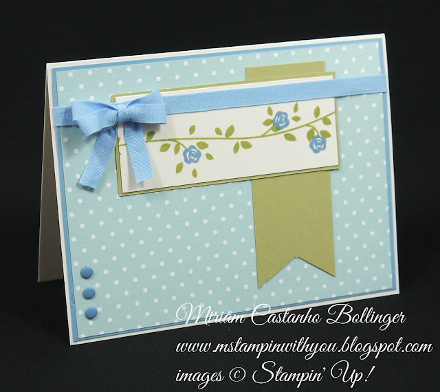 Miriam Castanho Bollinger, #mstampinwithyou, stampin up, demonstrator, dsc, all occasions card, floral wings, banner triple punch, subtles DSP, su