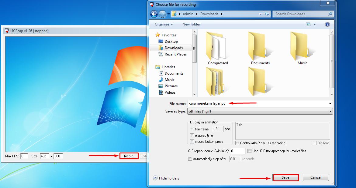 Cara Membuat Screenshot Bergerak di PC Format GIF