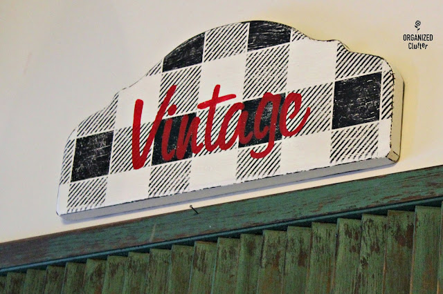 Buffalo Check Vintage Sign #signs #stencils #oldsignstencils #buffalocheck