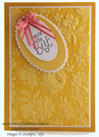 #thecraftythinker #stampinup #saleabration2019 #countryfloral #cardmaking , Country Floral embossing folder, Inking Embossing Folders, Stampin' Up Australia Demonstrator, Stephanie Fischer, Sydney NSW