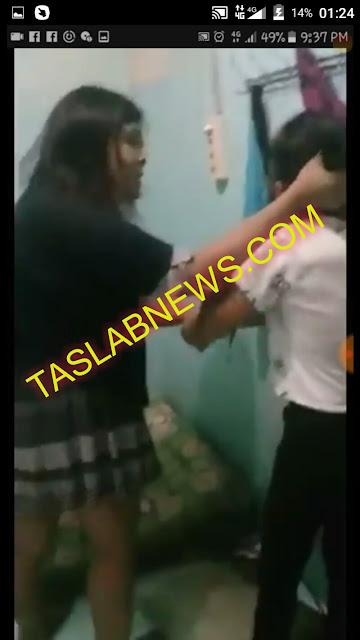 Cuplikan foto dari video rekaman penyiksaan seorang wanita yang disebut-sebut anak Asahan.