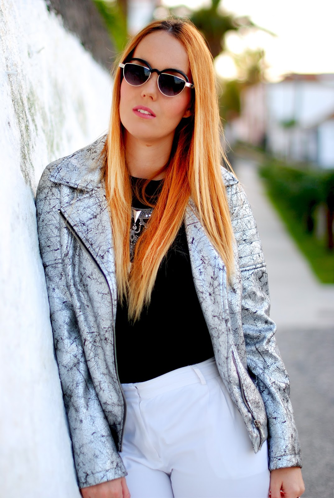 nery hdez, blondedge, freyrs, metallic jackets, cazadora metalizada