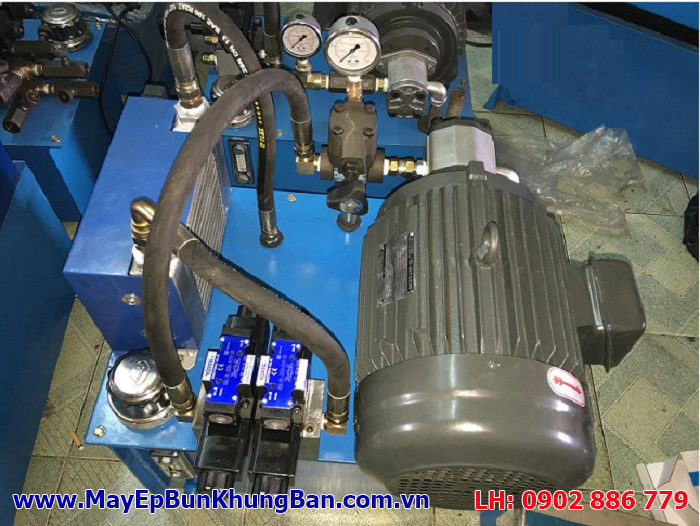 Bộ nguồn thủy lực của máy ép bùn khung bản Việt Nam do cty Vĩnh Phát lắp cho thiết bị