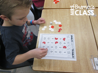 FREE math addition doubles activity
