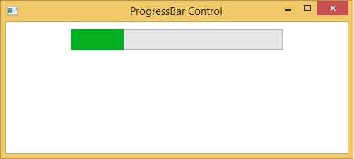 How to use Progress bar control in WPF