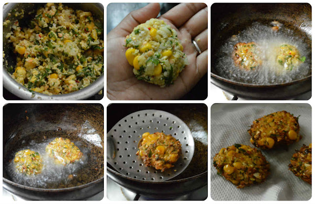 mixed dal sweet corn vadai